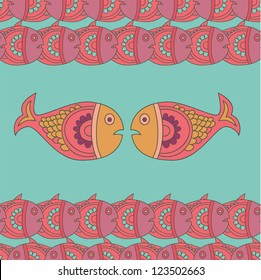 Exotic fish pattern