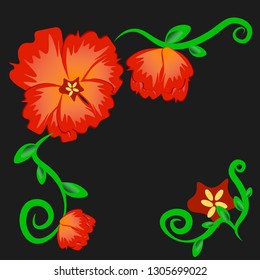 exotic flovers vector