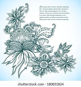 exotic flower background