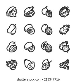 Exotic fruits icons. Professional vector icons for your website, application and presentation.