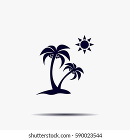 exotic island web icon. vector design