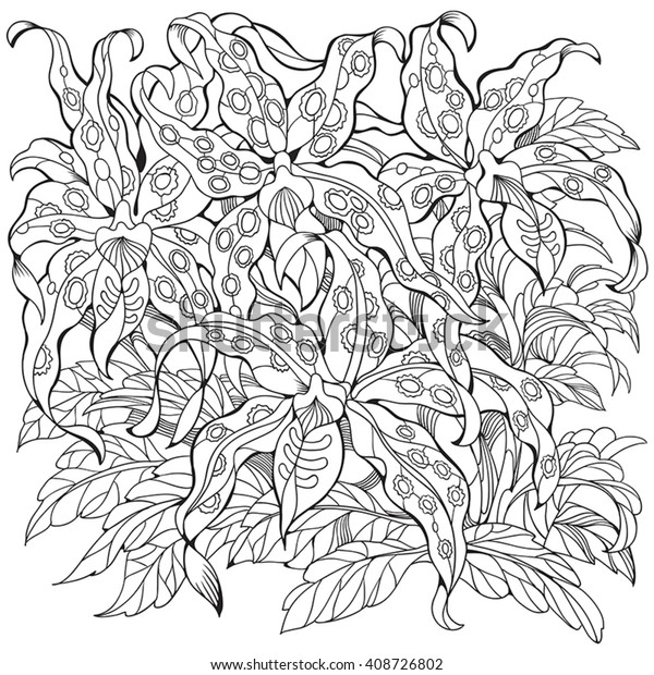 Pot With Exotic Flower Coloring Pages Printable | 620x600