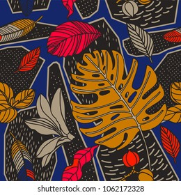 Exotic plants on geometric background