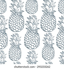 Pineapple Coloring Book Images Stock Photos Vectors