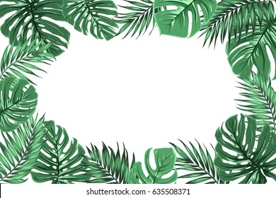 Leave Banner Images Stock Photos Vectors Shutterstock Seeking more png image tropical png,tropical plants png,tropical tree png? leave banner images stock photos