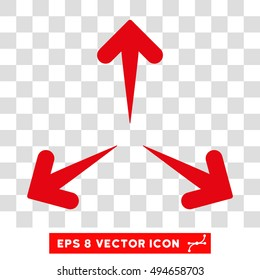 Expand Arrows round icon. Vector EPS illustration style is flat iconic symbol, intensive red color, transparent background.