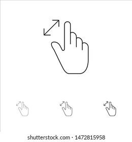 Imágenes, fotos de stock y vectores sobre Gesture+touch