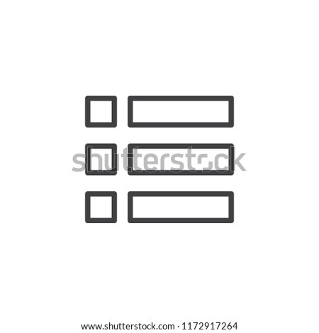 expand menu outline icon linear style stock vector royalty free