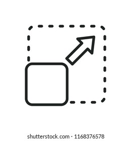 expand picture vector icon