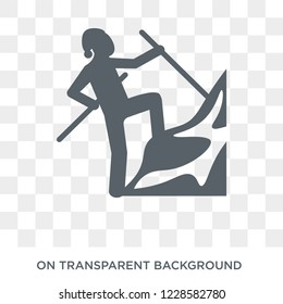 expedition icon. Trendy flat vector expedition icon on transparent background from Architecture and Travel collection. High quality filled expedition symbol use for web and mobile