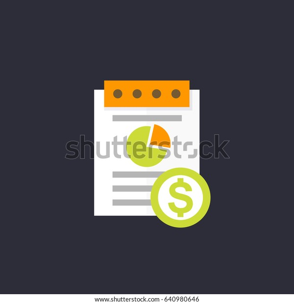 expense report icon, flat style