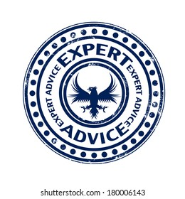 expert advice grunge stamp with on vector illustration