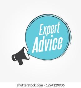 Expert Advice Megaphone Announcement
