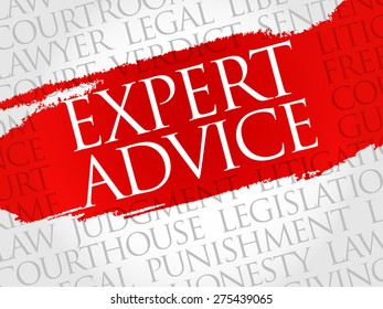 Expert advice word cloud concept
