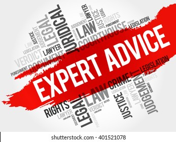 Expert advice word cloud concept