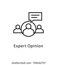 Expert Opinion Vector Line Icon