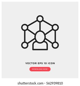 Expert vector icon, mentor symbol. Modern, simple flat vector illustration for web site or mobile app