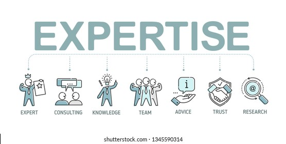 Expertise thin line icon set on expert, consulting, knowledge, team, advice, trust, research - minimalistic bussines infographic. Expertise vector icons collection