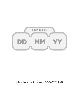 Expiration date of product label and signs symbol packaging symbol illustration template. After opening use icons. Shelf life of grocery item - vector