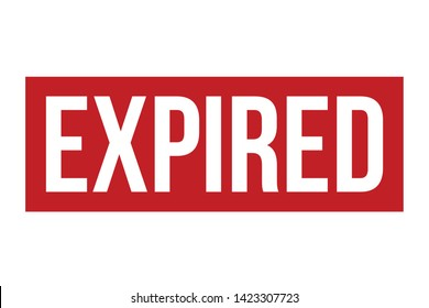 Expired Rubber Stamp. Red Expired Stamp Seal – Vector