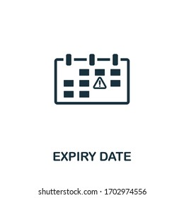 Expiry Date icon. Simple element from intellectual property collection. Filled Expiry Date icon for templates, infographics and more.