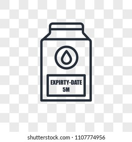 expiry date vector icon isolated on transparent background, expiry date logo concept