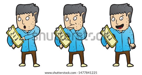 Clipart: note taking clip art | Note Taking — Stock Photo © lenmdp #10118031