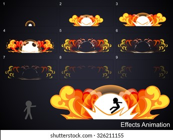 Explode effect animation 2.Can use for game design or animation.