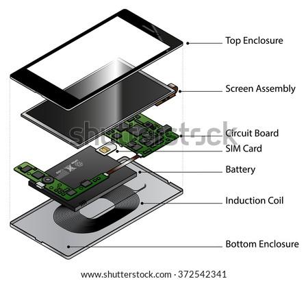 exploded diagram showing internal components smart stock. Black Bedroom Furniture Sets. Home Design Ideas
