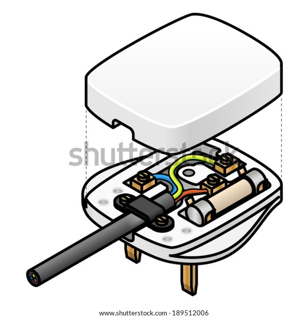 Exploded Diagram Uk Mains Ac Plug | Miscellaneous, Objects ... on