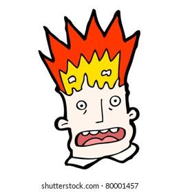 exploding head cartoon