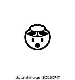 Exploding head icon. Exploding head emoticon emoji