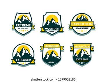 Explore Advanture symbol vector set