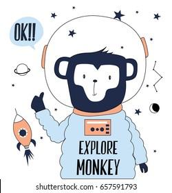 explore monkey illustration vector for print design.