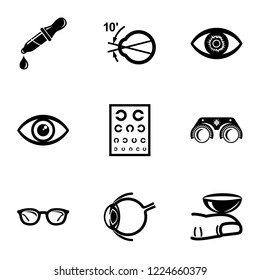Explore vision icons set. Simple set of 9 explore vision vector icons for web isolated on white background