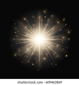 Explosion background with christmas lights. Twinkle little star on a black backdrop.