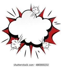 explosion boom comic effect