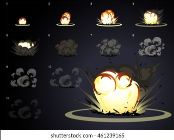 explosion effect animation.