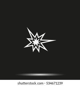 Explosion flat vector icon.