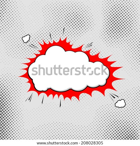 Explosion Popart Bubble Template Comic Style Stock Vector (Royalty ...