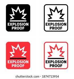 """""""Explosion proof"""" equipment and product safety information sign"""
