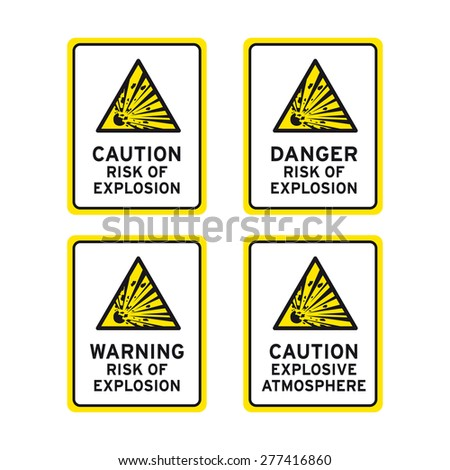 ... Explosion Risk Caution Warning Danger Sign Stock Vector (Royalty . 9d4edfb8e89a6