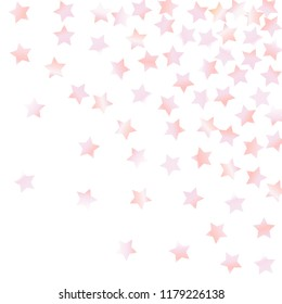 Explosion of stars.   Isolated gradient celestial elements. Pink purple pearl nacre shine. Iridescent festive  celebration vector  background for celebration decorations, flyers, posters.