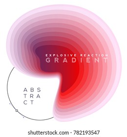 Explosive gradient banner composition, colorful topography blend shapes, Eps10 vector.