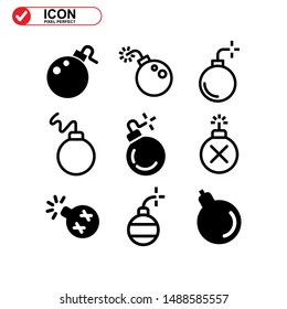 explosive icon isolated sign symbol vector illustration - Collection of high quality black style vector icons\n