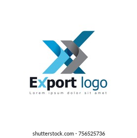 Export Branding Identity Corporate vector logo design