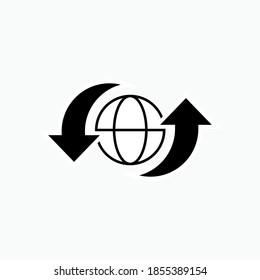 Export Import Icon. Logistic Traffic Symbol - Vector Logo Template.