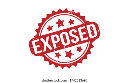 Exposed Rubber Stamp. Red Exposed Rubber Grunge Stamp Seal Vector Illustration - Vector