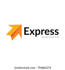 express arrow logo icon vector template