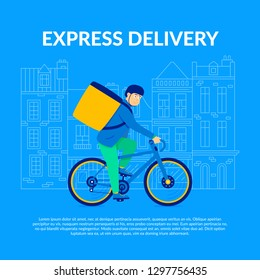 Express delivery. Bike Courier Work Independent Contractor or get position Courier Company. Speed Delivery Biking Postal Legal Financial and other Confidential Documents. Bicycle Lifestyle.